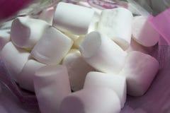 Pile of fluffy white marshmallows stock photo