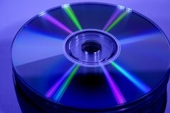 Pile fo blue cd\'s Stock Photo