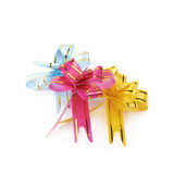Pile of foldable tape bows isolated Stock Photo