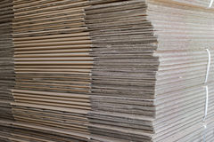 Pile Of Folded Carton Boxes Stock Photography