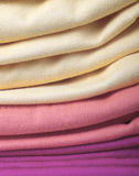 Pile of folded clothes Stock Images