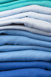 Pile of folded clothes Royalty Free Stock Photo