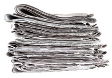 Pile of folded newspapers Royalty Free Stock Photo