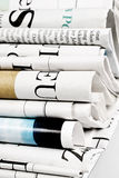 Pile of folded newspapers Royalty Free Stock Photography