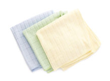 Pile of folded rags over white isolated background Royalty Free Stock Photos