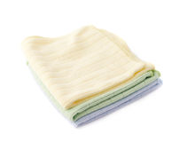 Pile of folded rags over white isolated background Stock Photography