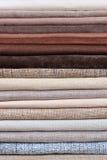 Pile of folded textile Stock Photo