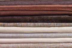 Pile of folded textile Royalty Free Stock Image