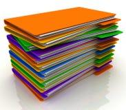 Pile of folders vector illustration
