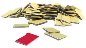 Pile of folders. desired folder.  Stock Images