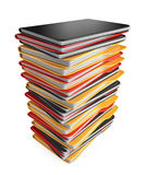 Pile of folders and files. 3D Icon isolated. On white Royalty Free Stock Image