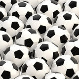 Pile of football balls as a background Stock Image