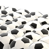Pile of football balls as a background Royalty Free Stock Photo