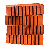 Pile of four bricks at an angle with each other Stock Photography