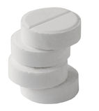 Pile from four gray tablet Stock Images