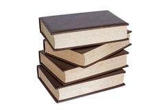 Pile of four old books Royalty Free Stock Photography