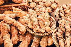 Pile of french baguette Stock Image