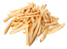 Pile of french fries isolated Royalty Free Stock Photography