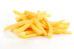 Pile of French Fries. Isolated on white background Royalty Free Stock Images