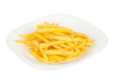 Pile of french fries in plate Stock Images