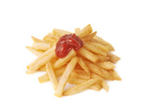 Pile of french fries potatoes isolated Stock Photography