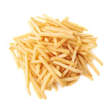 Pile of french fries potatoes isolated Stock Images