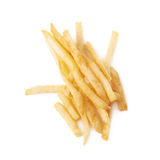 Pile of french fries potatoes isolated Royalty Free Stock Photography