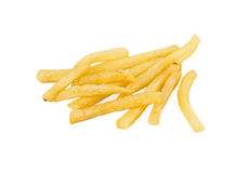 Pile of french fries. On a white background Stock Image