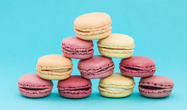 Pile of French Macaroons Royalty Free Stock Photos