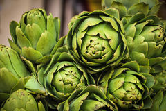 Pile of fresh artichokes Royalty Free Stock Images