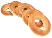 Pile of fresh bagels Stock Images