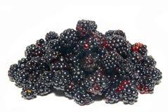 Pile of fresh blackberries. Stock Photo