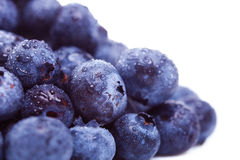 Pile of fresh  blueberry fruits Stock Photos