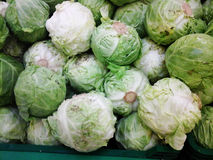 Pile of fresh cabbage Royalty Free Stock Images