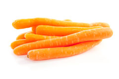Pile of fresh carrots. Isolated on white background Royalty Free Stock Photography