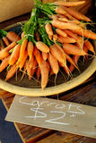 Pile of Fresh Carrots for Sale Royalty Free Stock Photography