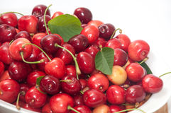 PILE OF FRESH CHERRIES Royalty Free Stock Images