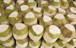 Pile of fresh coconut i. N asian market Royalty Free Stock Photo