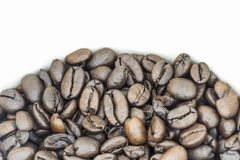 A Pile of Fresh Coffee Beans.  Stock Photos