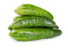 Pile of fresh cucumbers Royalty Free Stock Photo