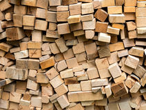 Pile of fresh cut wood logs Stock Image