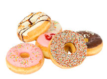 Pile of fresh donuts Stock Images