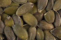 Pumpkin seeds close up Royalty Free Stock Photography