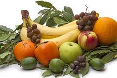 Pile of fresh fruit on white Royalty Free Stock Photography