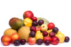 Pile of fresh fruits Royalty Free Stock Photo