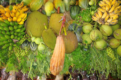 Pile of fresh fruits and vegetables Stock Image