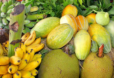 Pile of fresh fruits and vegetables Royalty Free Stock Images