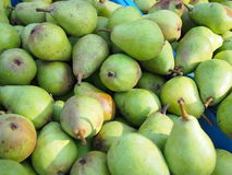 Pile of fresh green pears Stock Image