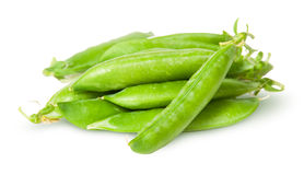 Pile of fresh green peas sugar in the pods Royalty Free Stock Photo