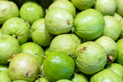 Pile of fresh guavas background Stock Photos